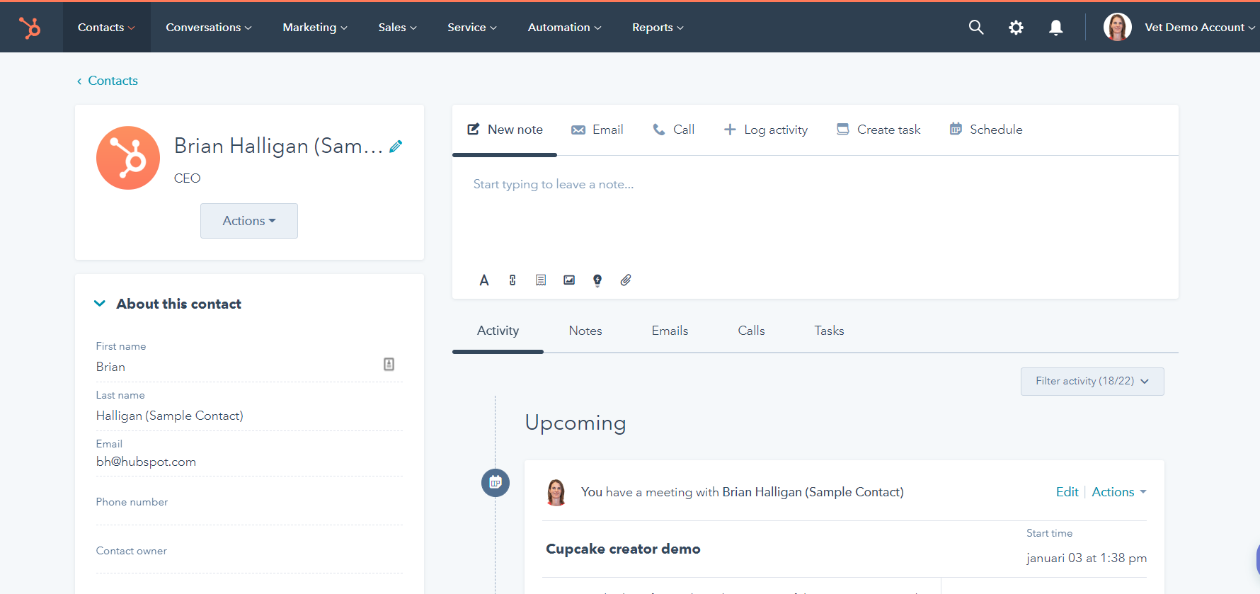 Free CRM of Hubspot