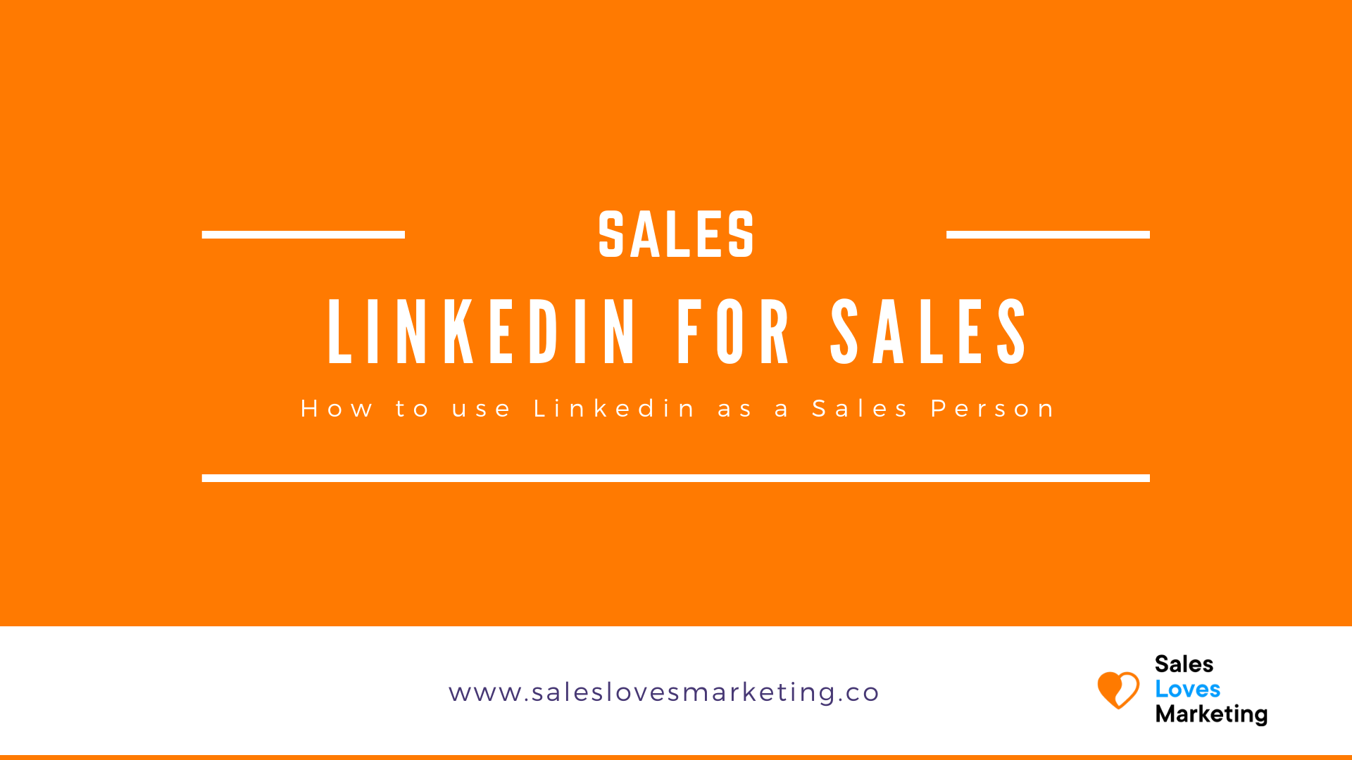 How to use Linkedin as as Sales Person to boost your sales.