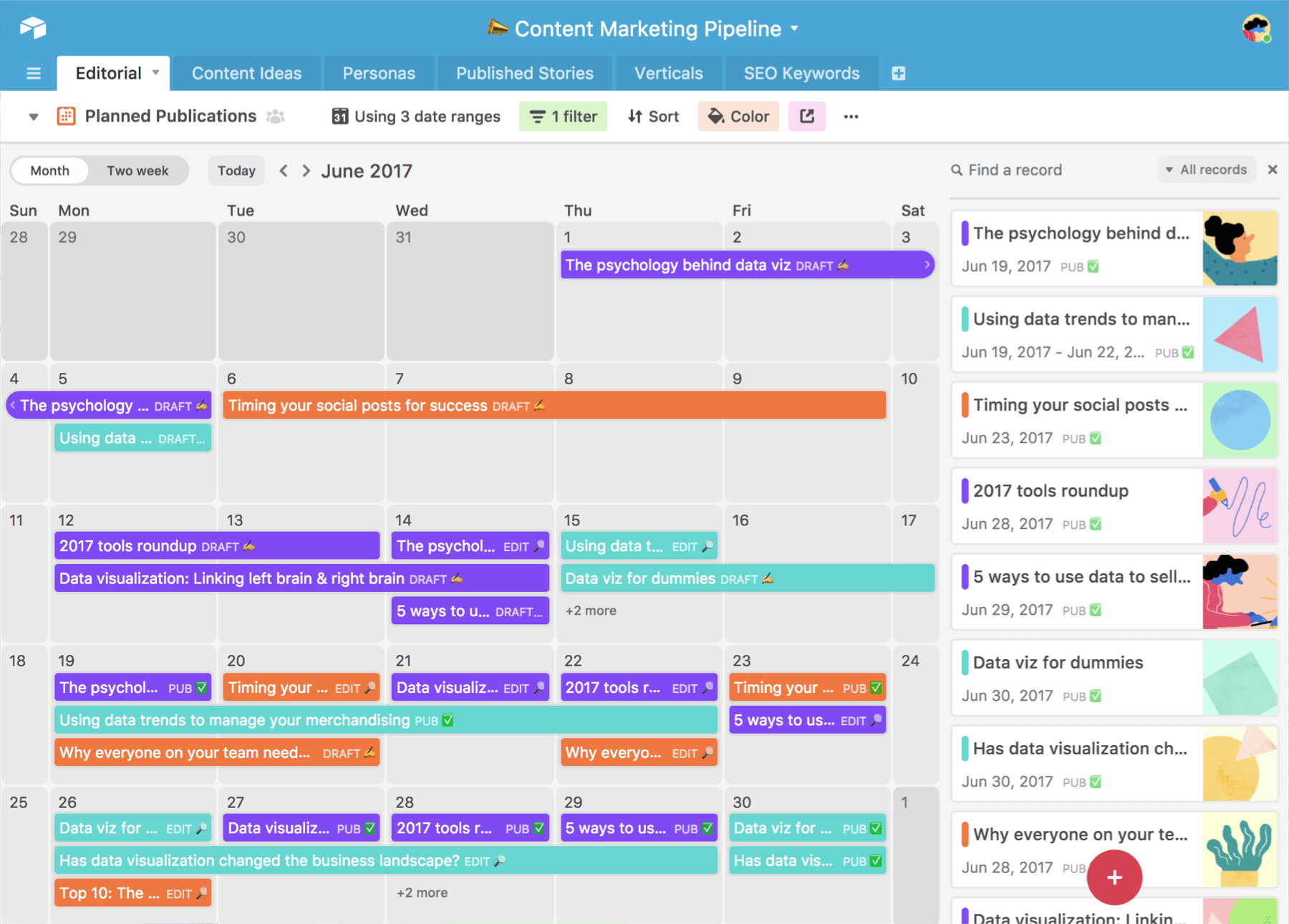 turn your calendar into a project calendar with Airtable