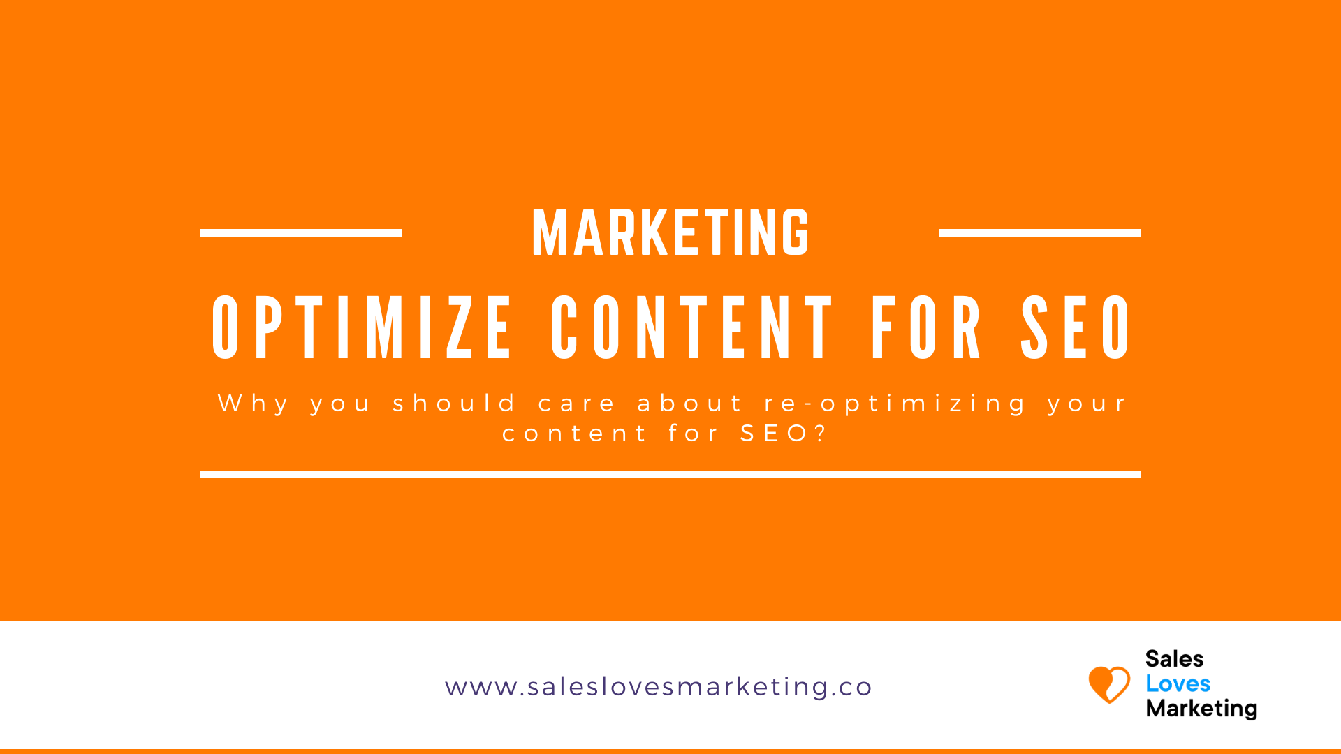 Start re-optimizing your website content for seo purposes