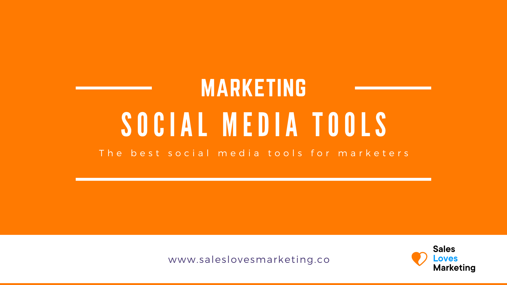 Overview of the best social media tools for b2b marketers