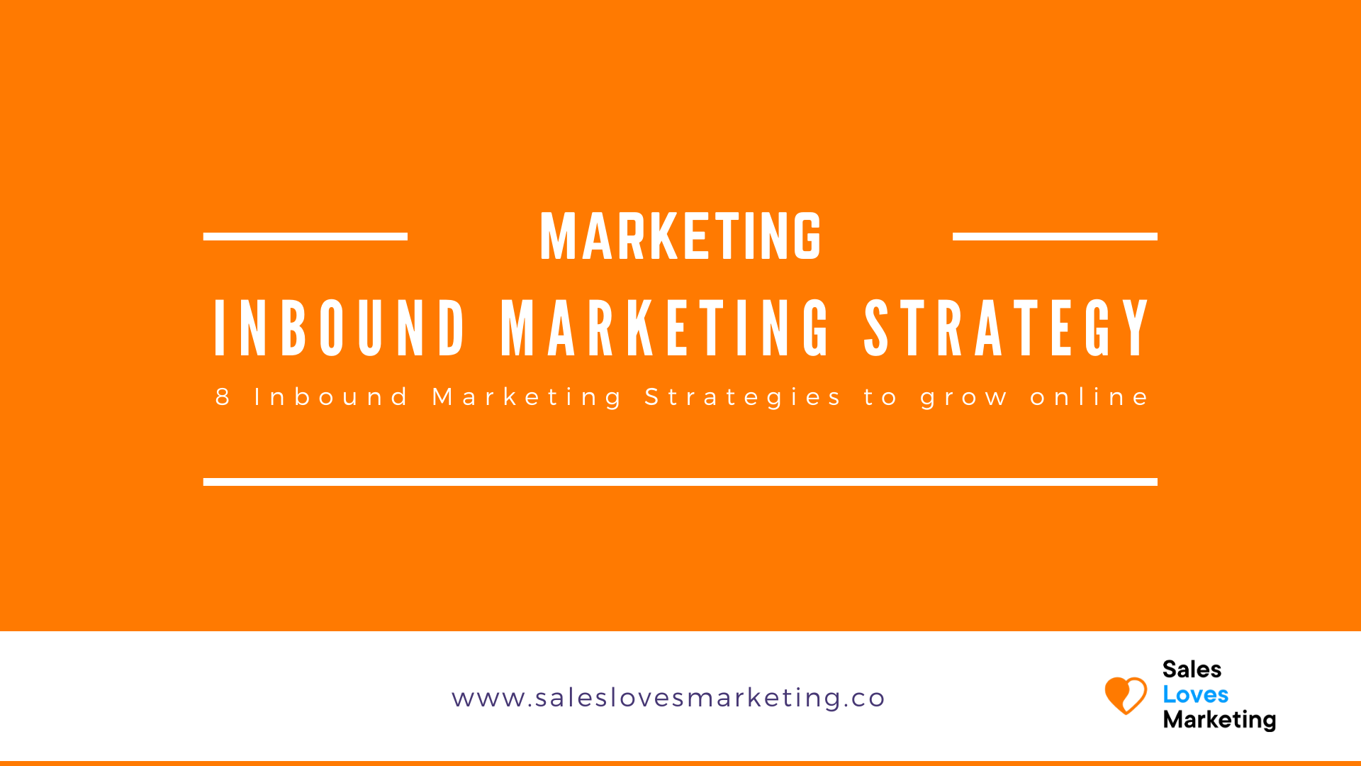 Eight inbound marketing strategies lined out which will help you to grow your online presence as a business