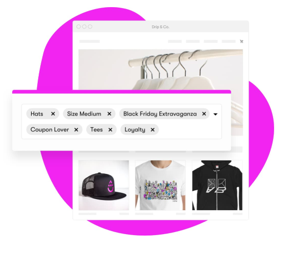 Create segmentation in your drip campaign by using tags