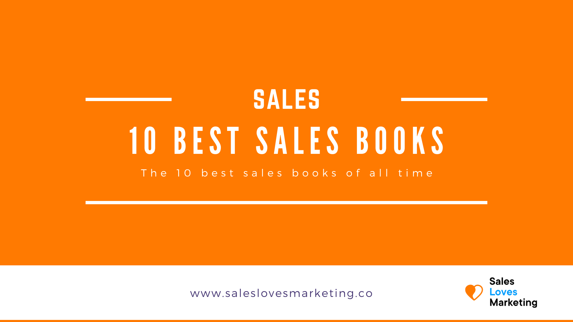 A line up of the ten all time best sales books