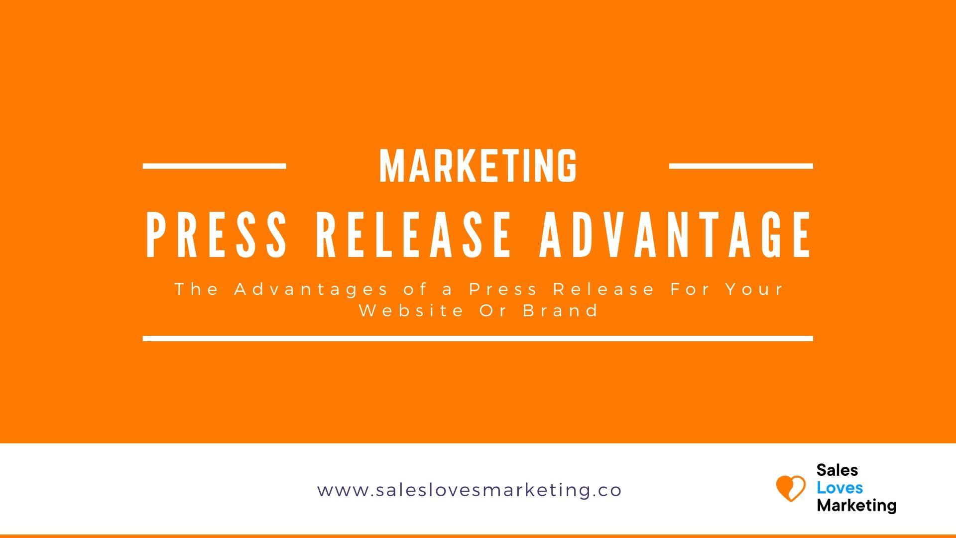 Advantage of press release blog cover