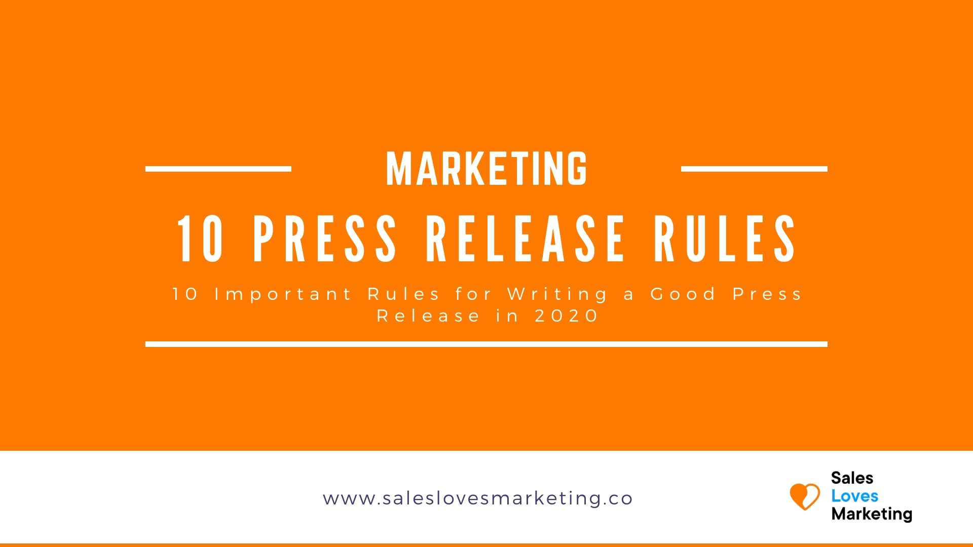 How do you write a good press release? Read it here with 10 rules to follow.