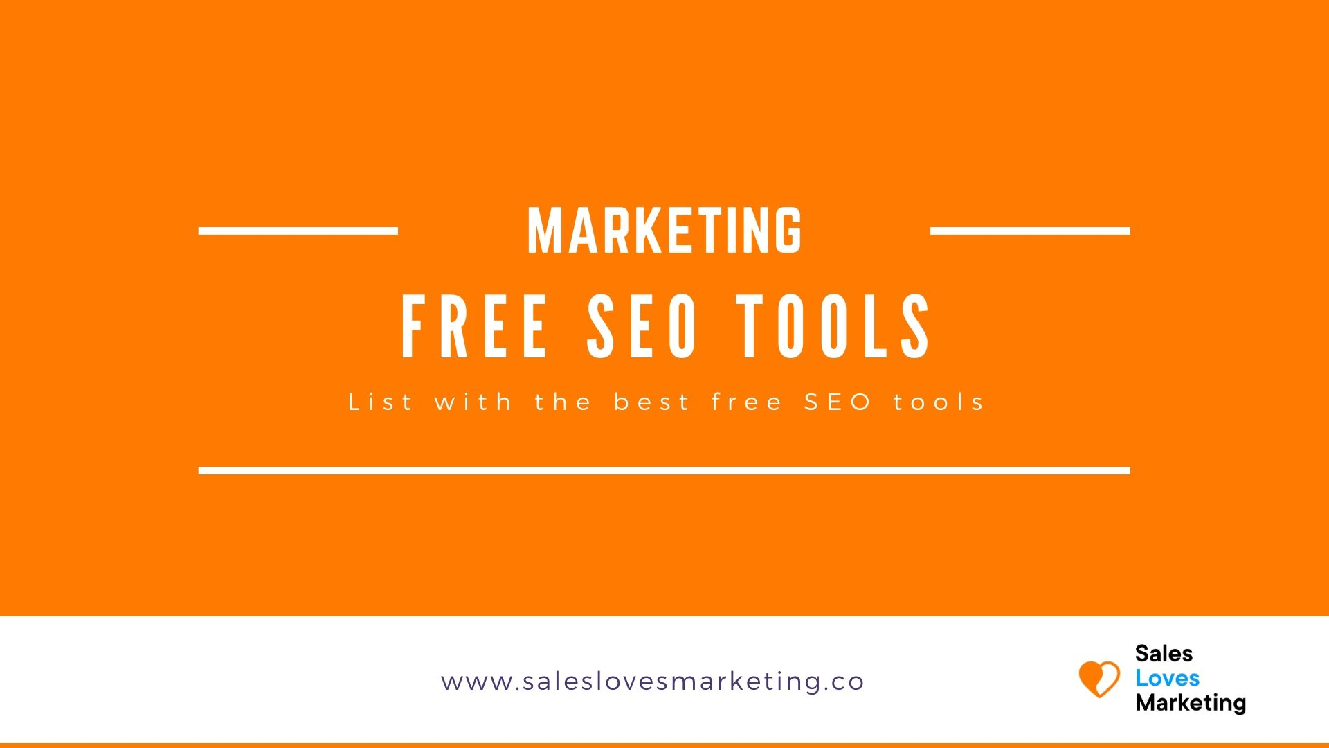 Listing with the best free SEO tools