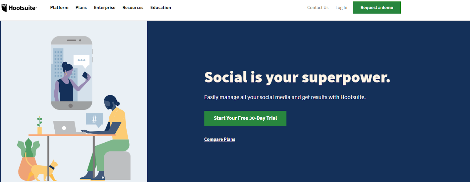 Schedule your social media posts using Hootsuite