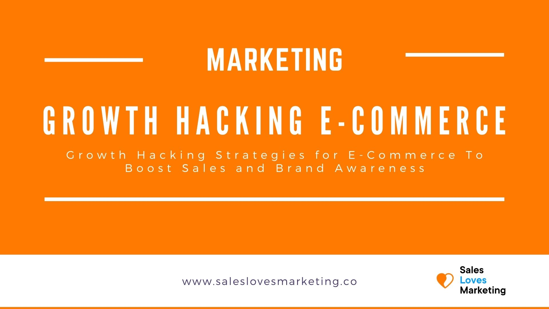 Cover for the growth hacking blog regarding e-commerce