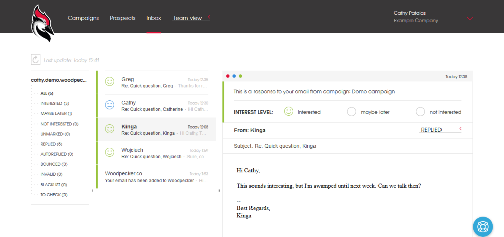 Get all your emails in one place with Woodpecker