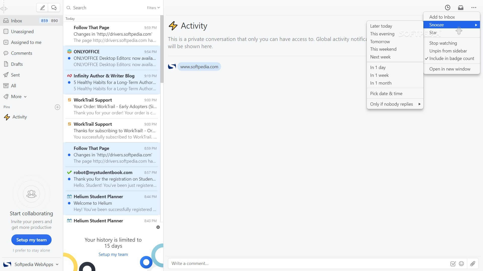 Boost your productivity by bringing all your emails and chats to one platform