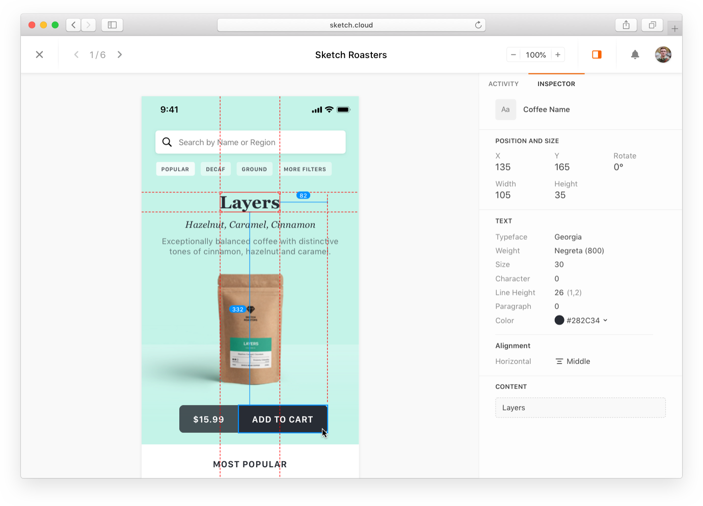 Design all your mockups easily with Sketch