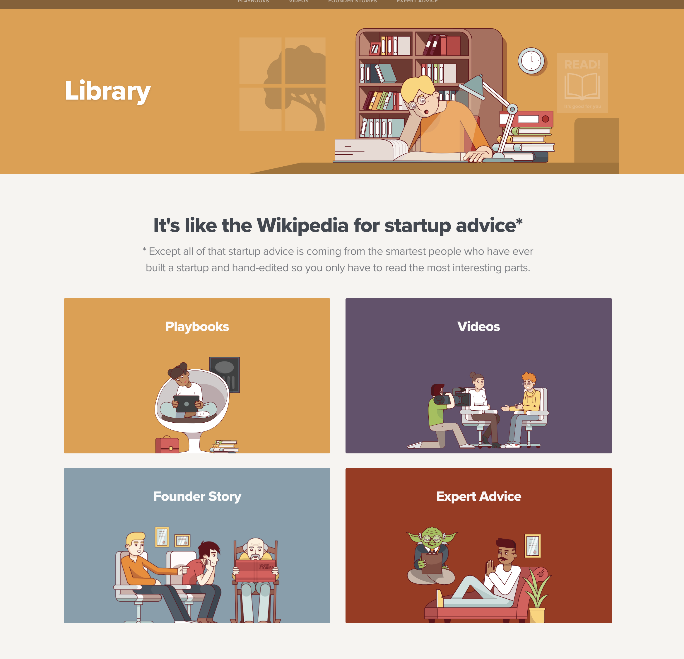 all the materials you need for your startup within one library