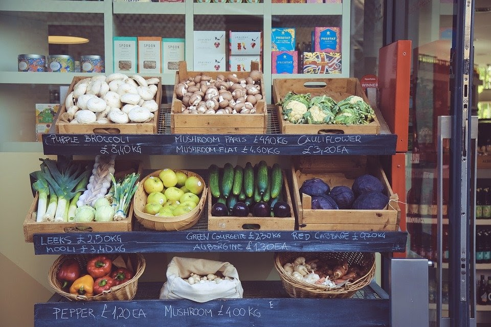 Business, Voedsel, Verse Groenten, Markt, Shop