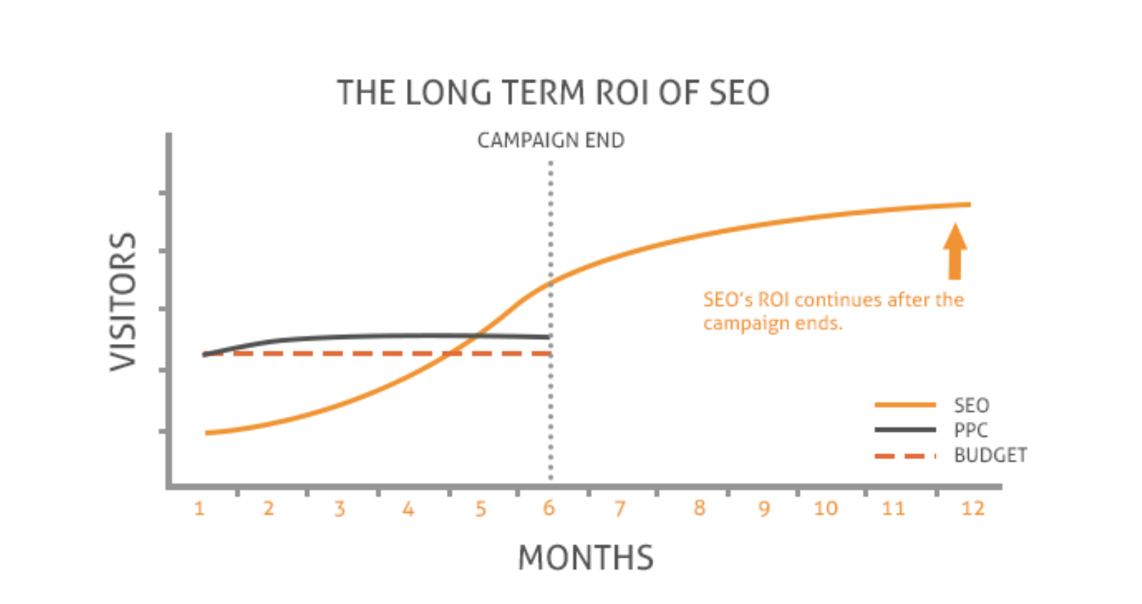 The long term effect of SEO vs paid campaigns