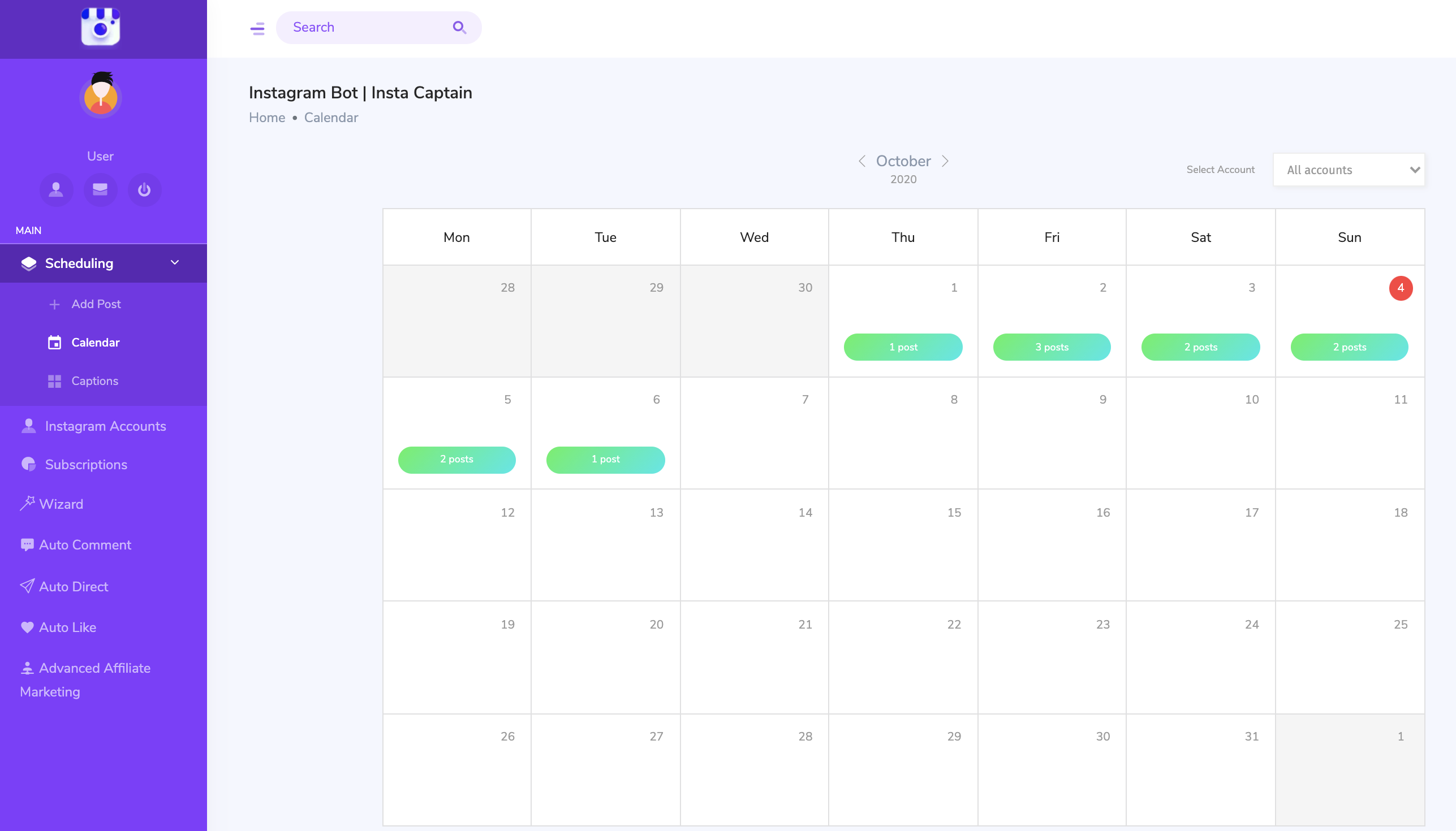schedule your instagram posts and stories easily and keep track of them in your calendar