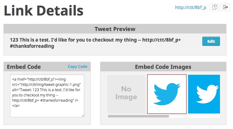 add custom links to twitter easily