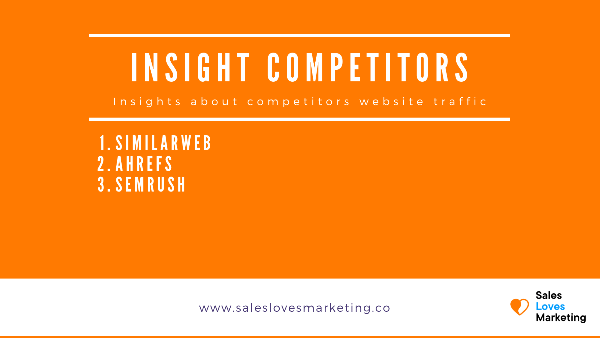 Find out where your competitors website traffic is coming from with the right tools