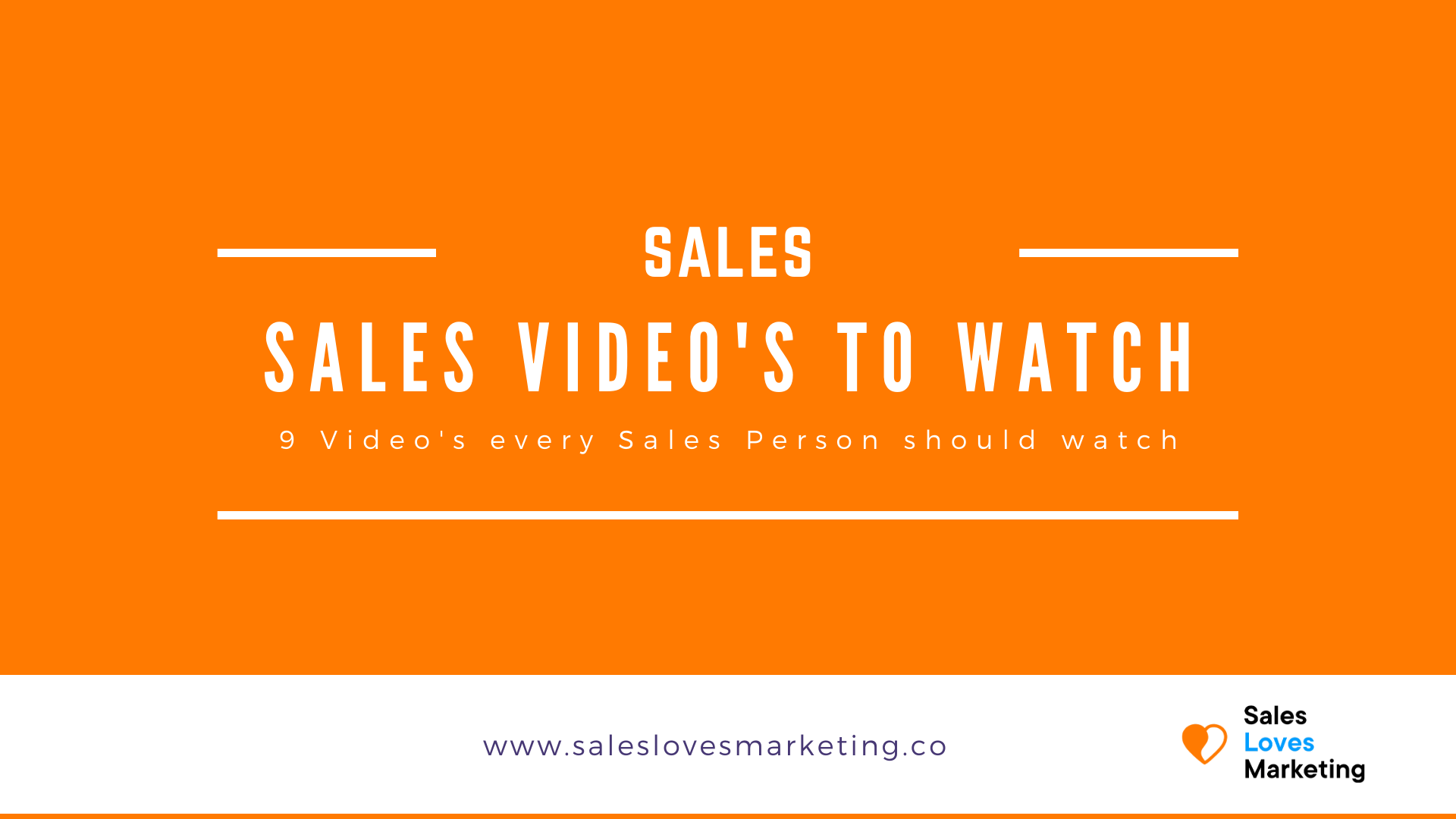 Educate yourself on sales by watching these nine 'have to watch' sales video's