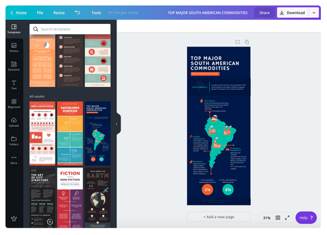 Create infographics easily with Canva