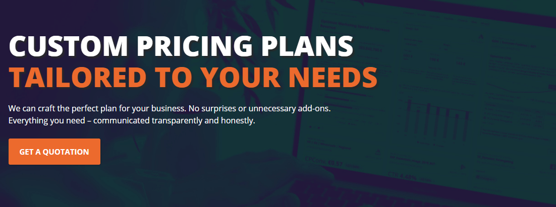 Adverity custom pricing plans