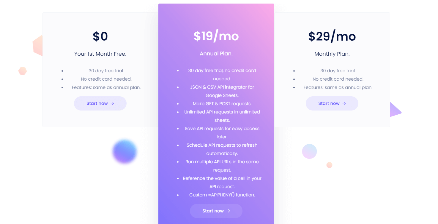 apipheny.io pricing, a supermetrics alternative