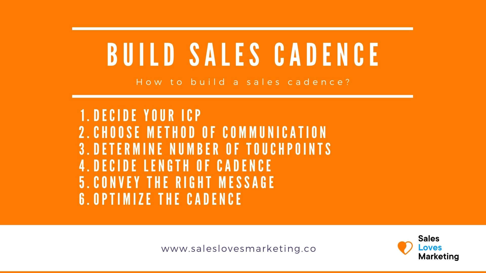 How to build a sales cadence, following  6 quick steps.