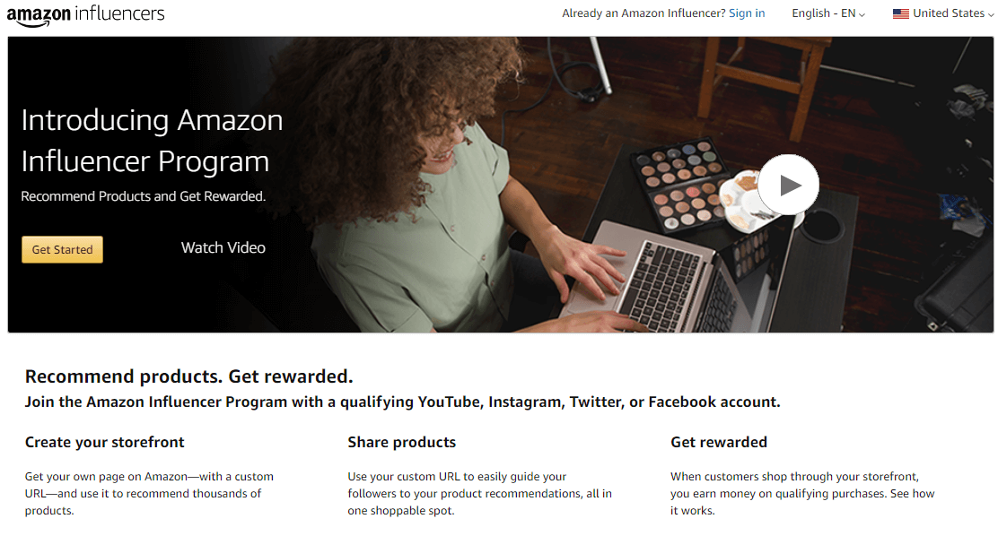 Earn passive income by joining Amazon Influencer Program and promoting products