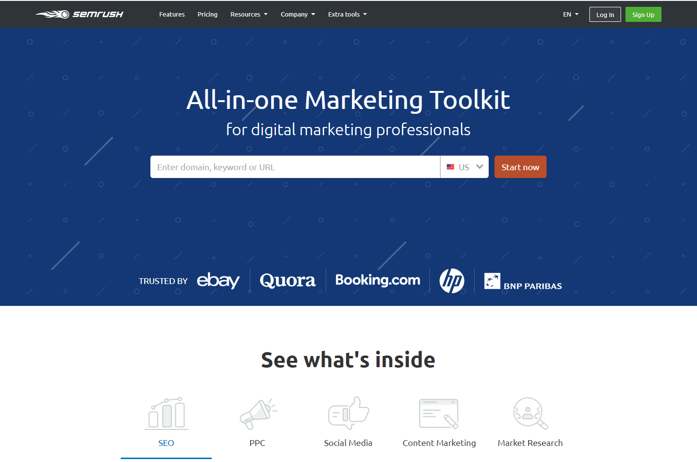 SEMrush is an all-in-one marketing toolkit for digital marketers