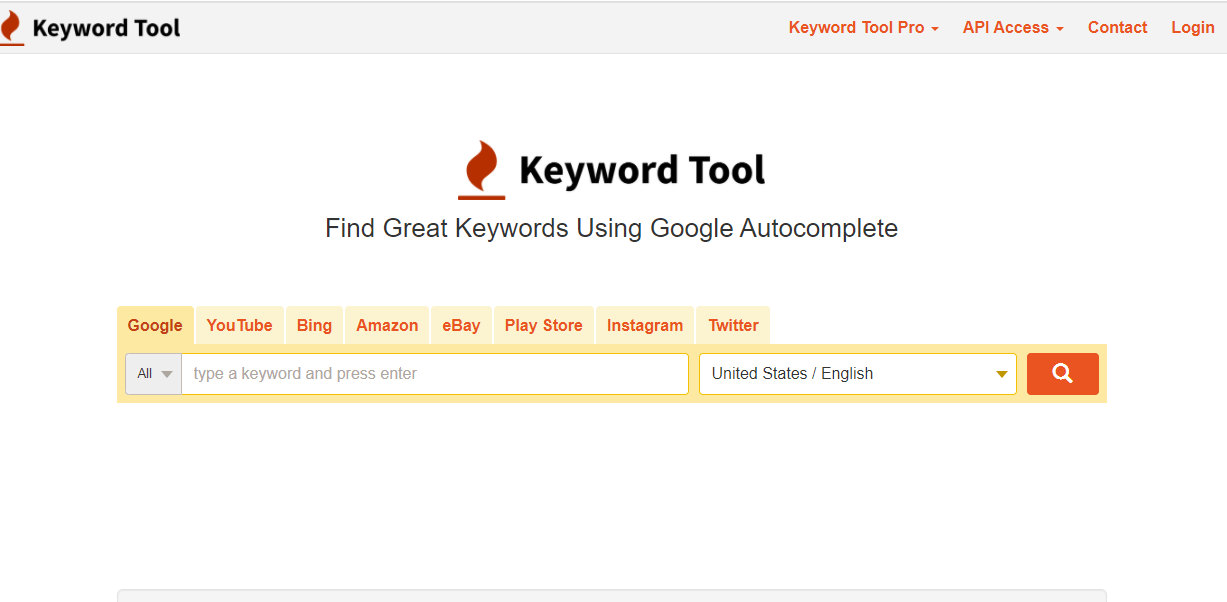 Find great new keywords using the keyword tool