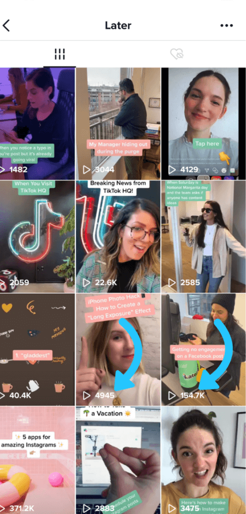 tiktok later explained and showed. A great way to make use of the algorithm