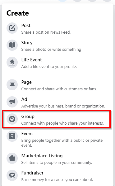 Growth Hacking facebook strategy; create a facebook group