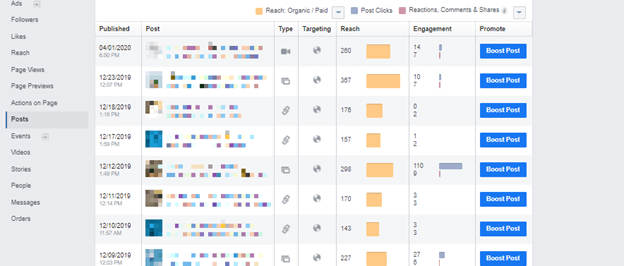 social data feedback within Facebook example