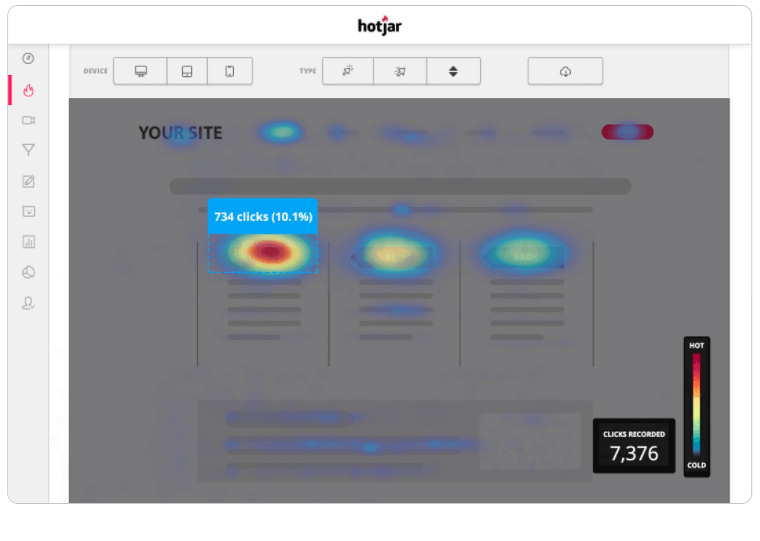 Analyze online behaviour with Hotjar