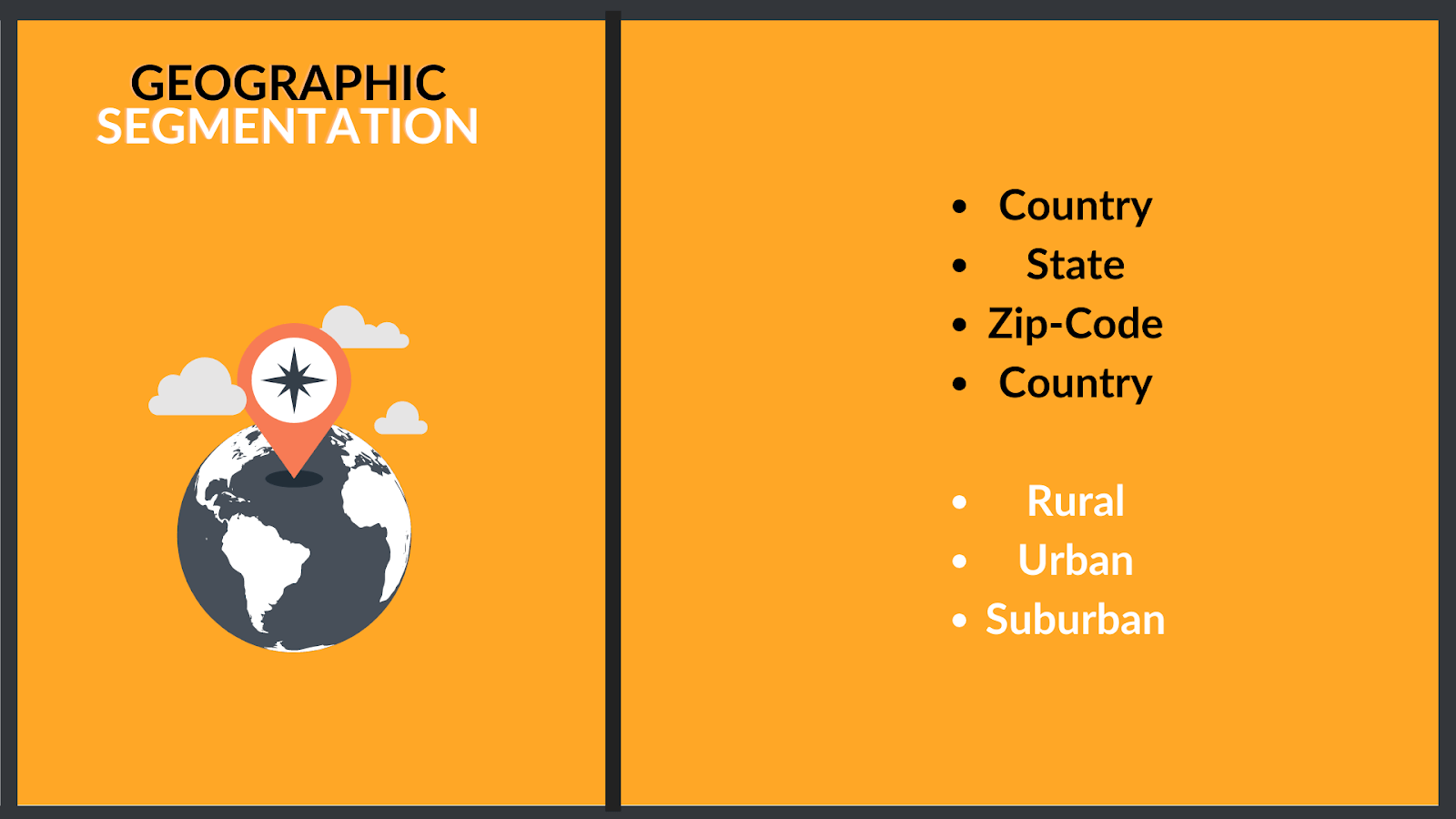 How you can segmentation based on geography