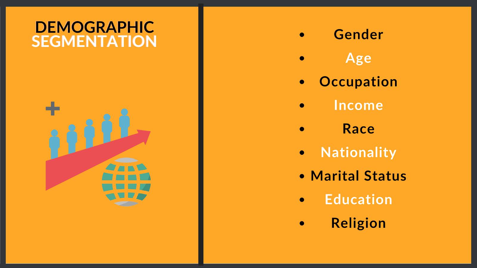 how to segmentate based on demograhpic