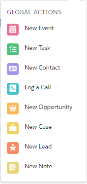 Create new actions within Salesforce CRM