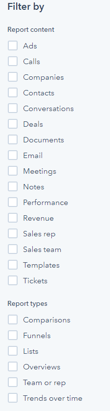 Filter on all attributes within Hubspot