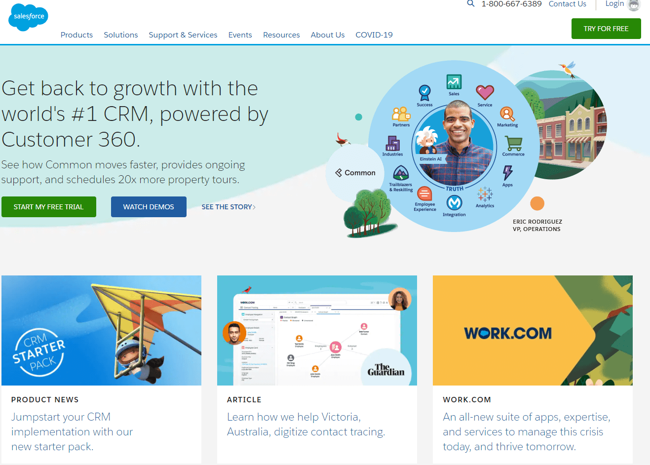 Salesforce is a great enterprise CRM which can give you a 360view of your customers