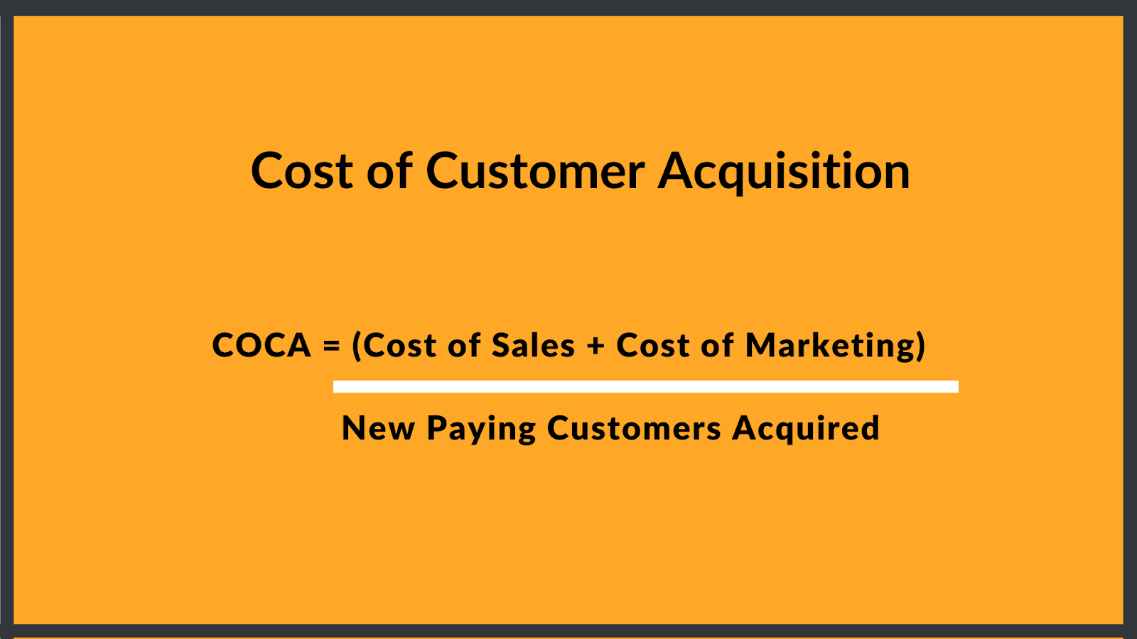 calculation of customer acquistion costs