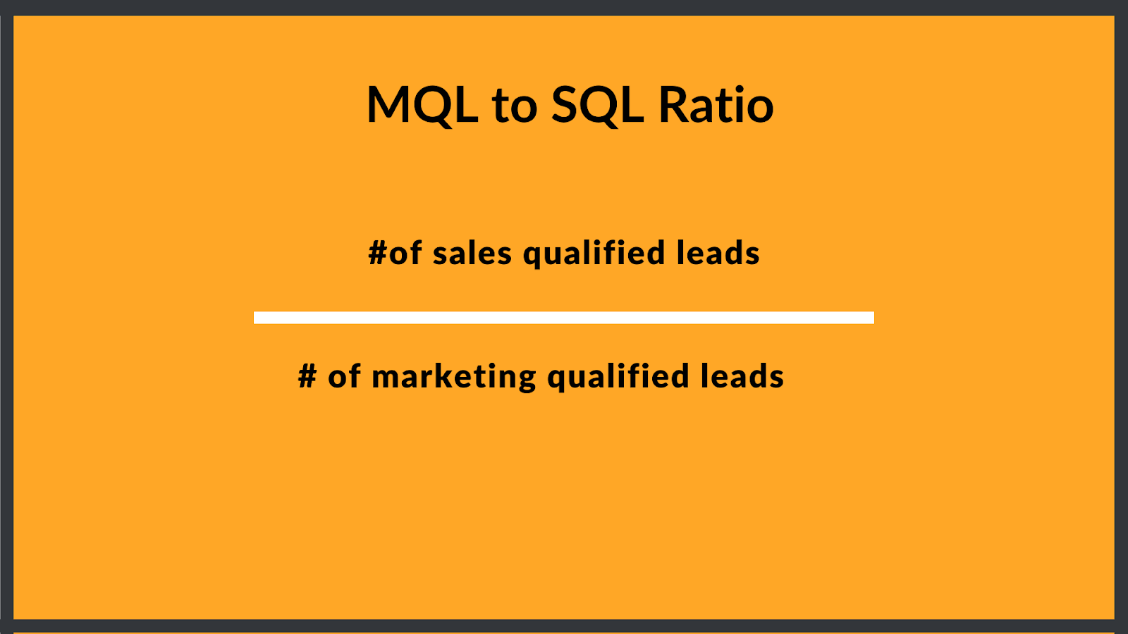 how to calculate your mql to sql ratio