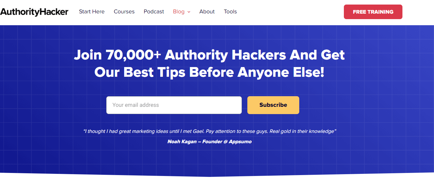 Authority Hacker blog is a great way to keep up to date with the latest digital marketing trends
