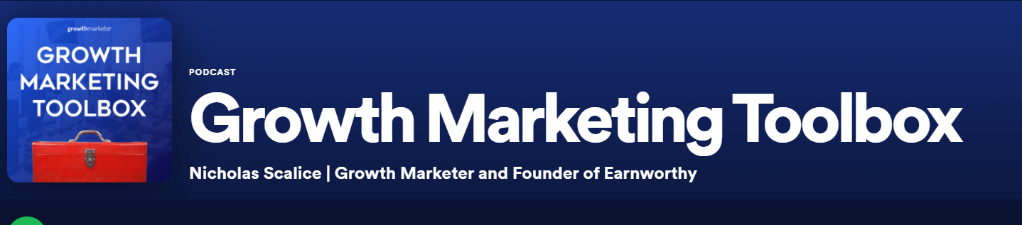 The Growth Marketing Toolbox podcast, a great podcast for growth markters