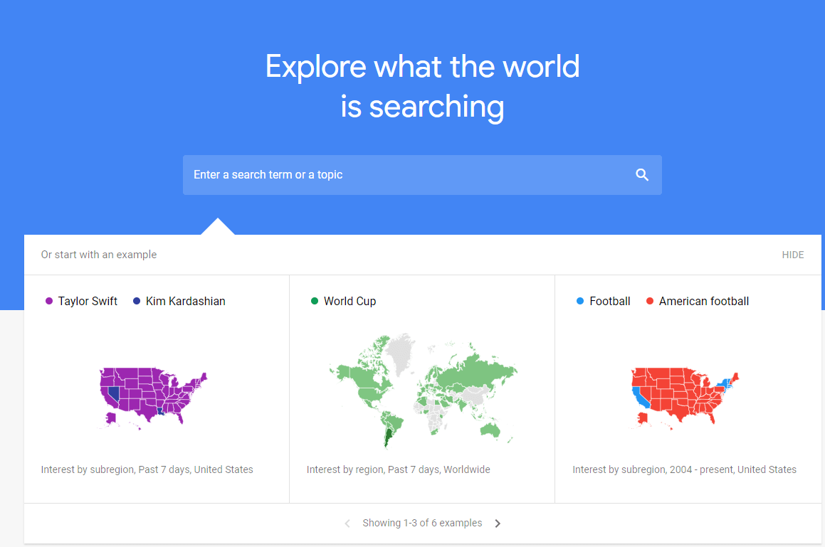 google trends; explore what the world is searching for