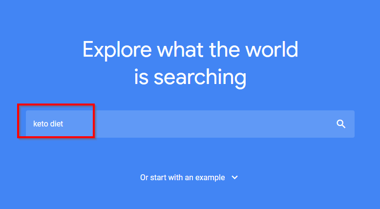 find any keyword trend with google trends