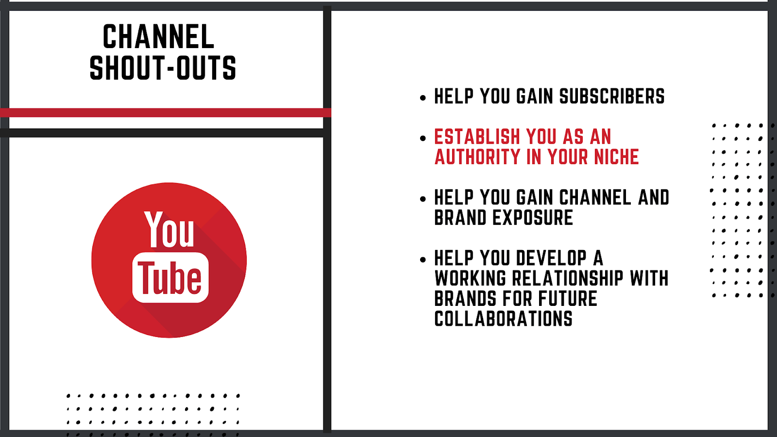 Asking for channel shout-outs on Youtube, why should you care about this?