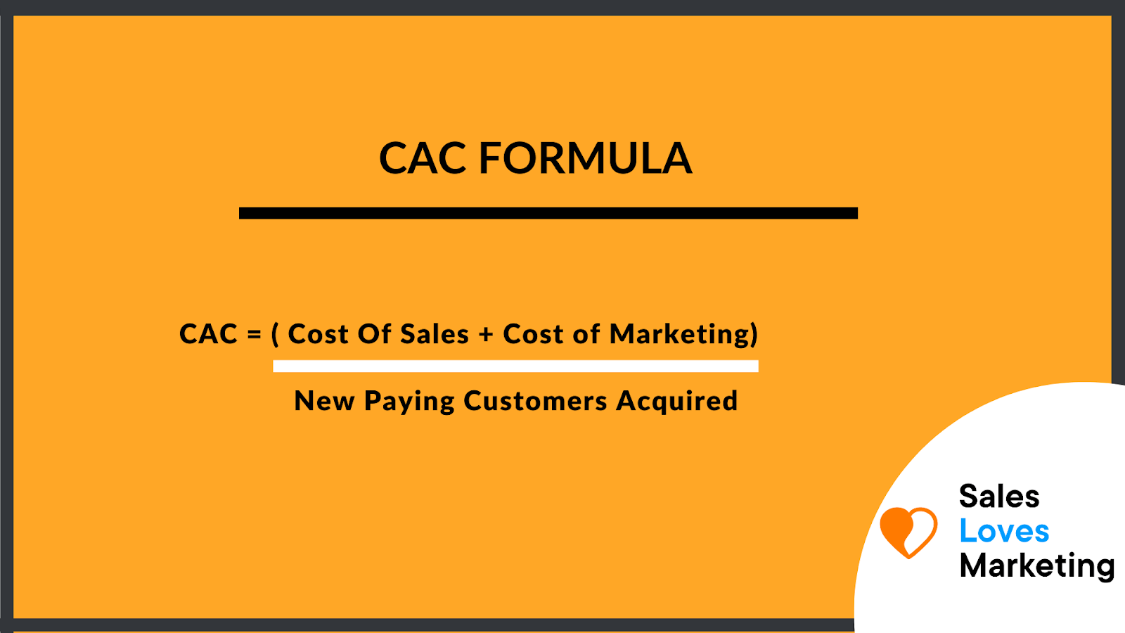 How to calculate CaC, the formula to do so.