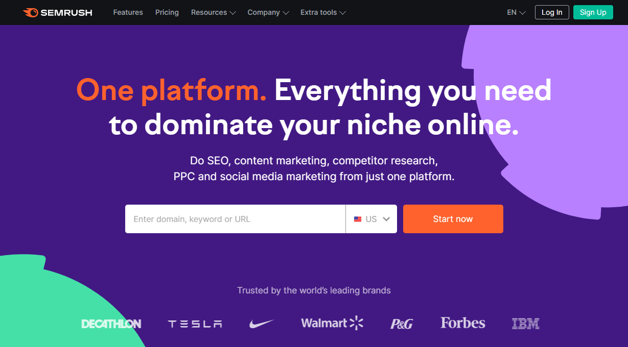 One tool to manage your seo, content marketing, competitor research and more