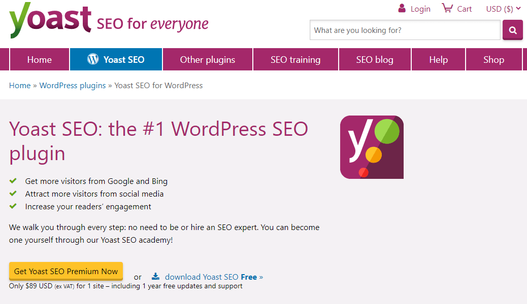 Wordpress SEO plugin Yoast is a great way to manage your content on the site