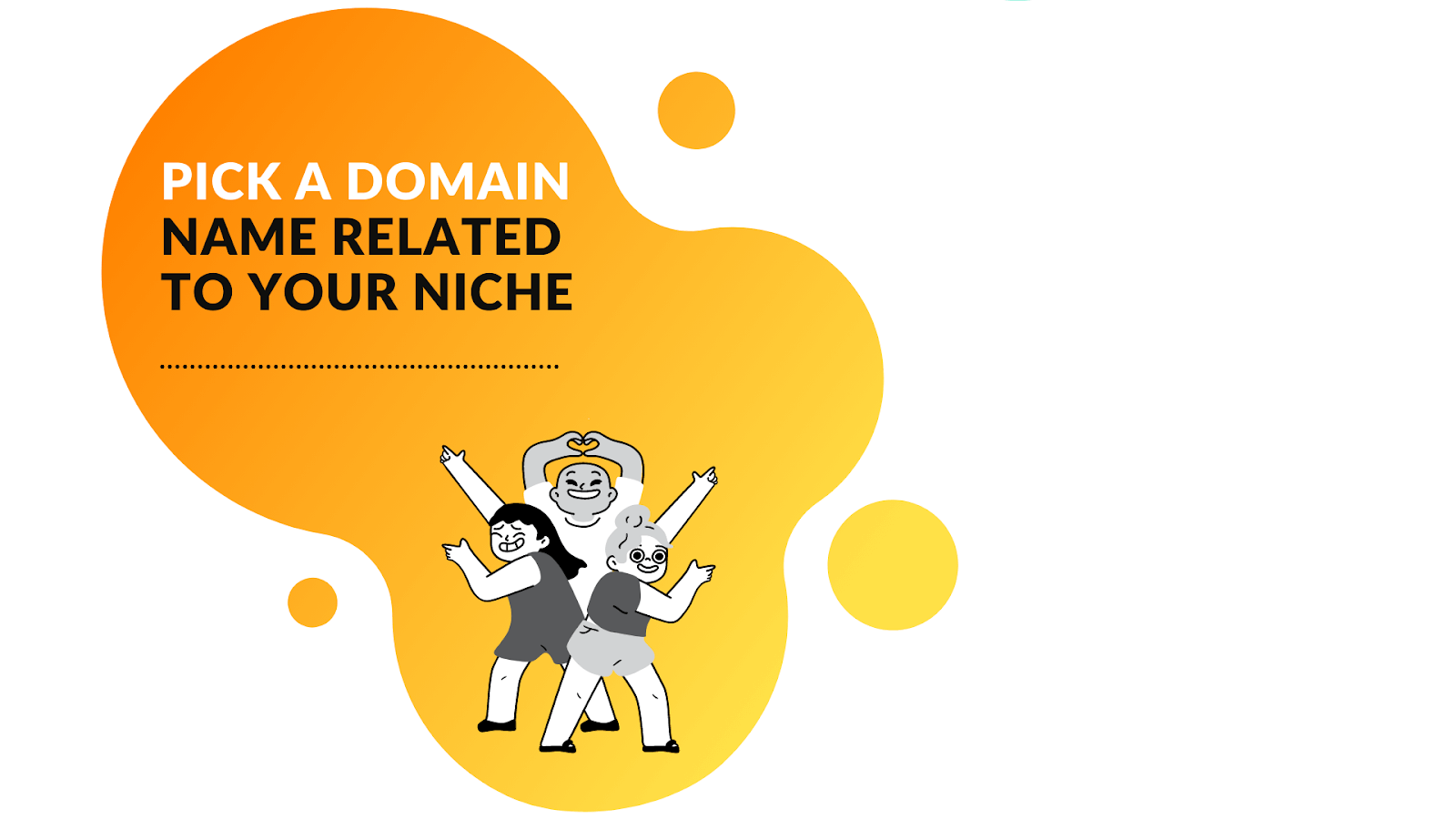 pick a domain name which is related to your niche